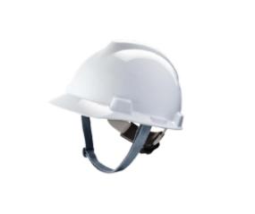 Capacete Branco Msa V-gard C/ Jugular Carneira Push Key