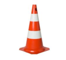 Cone 50cm lar/bco PVC