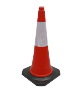 Cone PVC 75cm com refletivo e base borracha 2,5kg