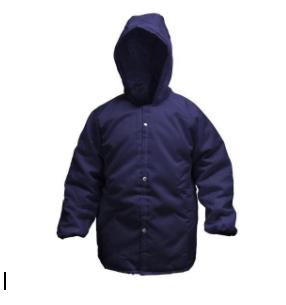 Japona nylon para câmara fria ( -35ºC ) G - azul com capuz GCA 10975